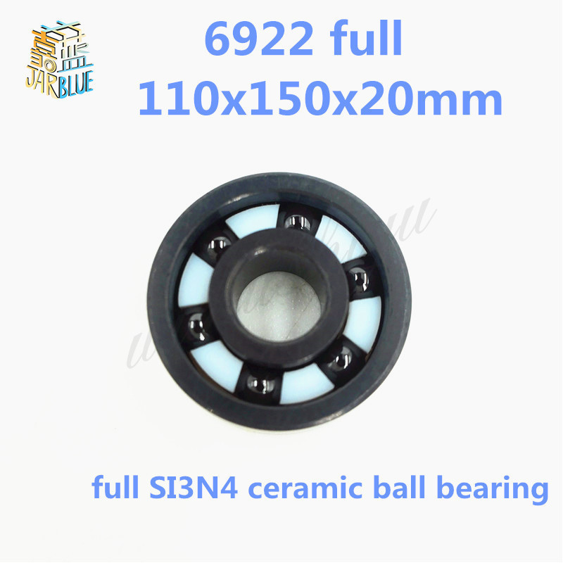 купить Free shipping high quality 6922 full SI3N4 ceramic deep groove ball bearing 110x150x20mm по цене 41806.22 рублей