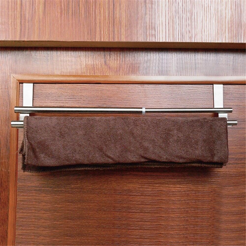 Новое поступление Регулируемая за дверь Полотенца стойке висит держатель Ванная комната Кухня полка шкафа для Kicthen высококачественные шле...