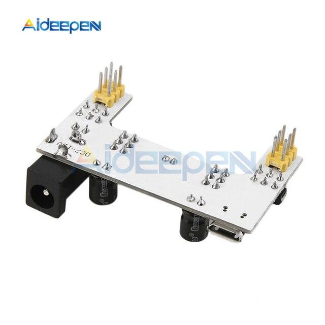Module dalimentation en platine de prototypage MB-102 MB102 Module dalimentation dédié à la platine de prototypage Interface Micro USB cc 7-12V à 2 canaux