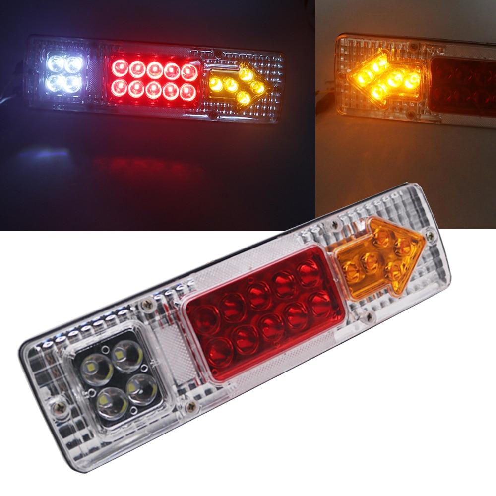 "20 Pcs Side Marker Tail Light 6 LED 3.8/"" Red Color Truck Trailer Boat RV ATV Cab"
