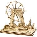 GB английский Лондонский глаз DIY Деревянный Колесо обозрения Природная Энергия питание Великобритания Лондонский глаз колесо обозрения гол...