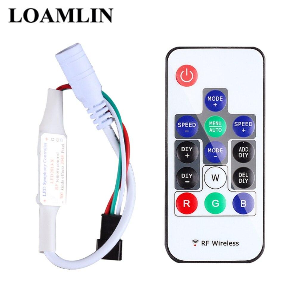 14-клавишный RGB беспроводной пульт дистанционного управления Мини RF светодиодный контроллер 14-клавишный Dc 5в-24в Sp103E WS2812 WS2811 цвет для 5050 3528 Светодиодная лента