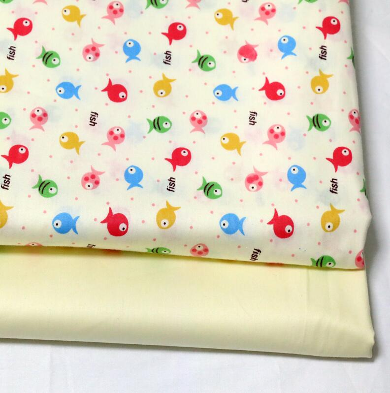 2016 New 2 pic/lot 40x50cm Cotton Fabric Sewing Quilting Patchwork quilts Tissue baby dress Bedding tecidos DIY Doll cloth xl10