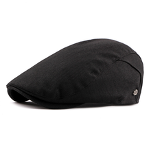 2534787b950 Pure Cotton Striped Newsboy Unisex For Women s Men Hat Travel Outdoor  Fishing Duck Tongue Cap British