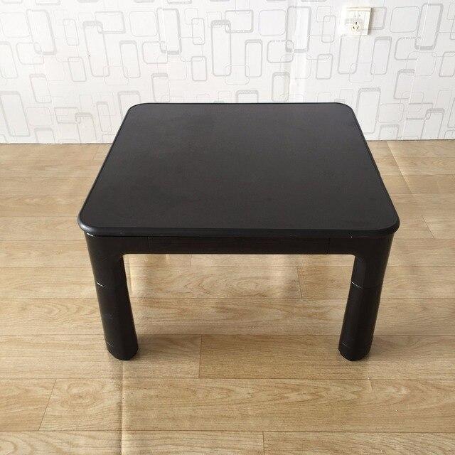 Lage Salontafel Wit.Japanse Kotatsu Tafel Kleine 60 Cm Omkeerbare Top Zwart Wit