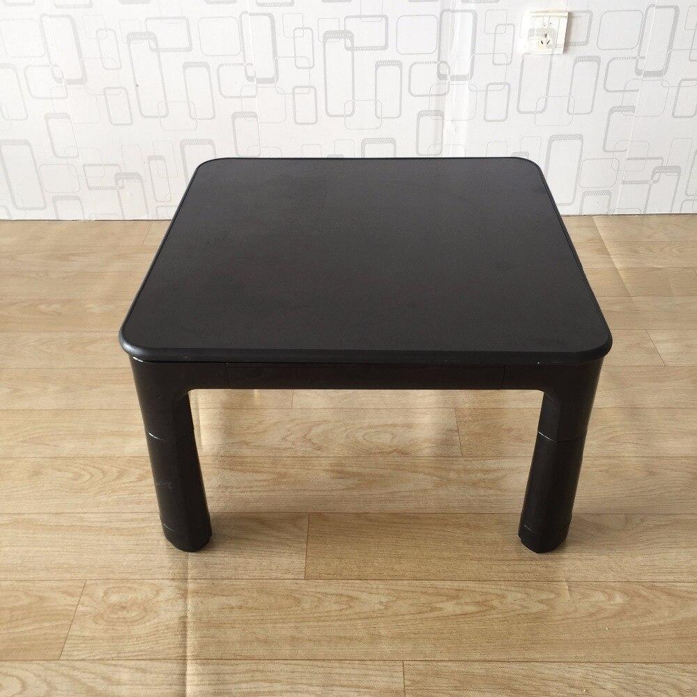 €173.36 |Table japonaise Kotatsu petit plateau réversible 60 cm noir/blanc  salon meubles chauffe pieds chauffe pieds Table basse chauffante ...