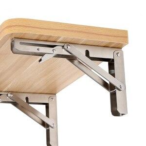 Image 3 - 2 Stuks, 10 Inch Tot 16 Inch Goedkope Heavy Duty Rvs Folding Desk Tafel Wall Mount Beweegbare Opknoping Hoek Plank Beugels
