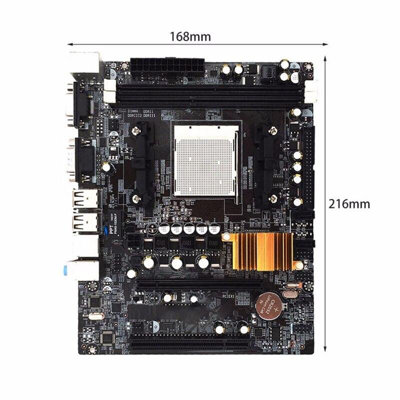 Материнская плата N68 C61 для настольного компьютера с поддержкой Am2 для Am3 Cpu Ddr2+ Ddr3 с 4 портами Sata2#8
