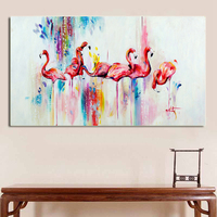 RELIABLI Watercolor Flamingo Decorative Painting Canvas Prints and Posters Nordic Animal Wall Pictures For Living Room Unframed