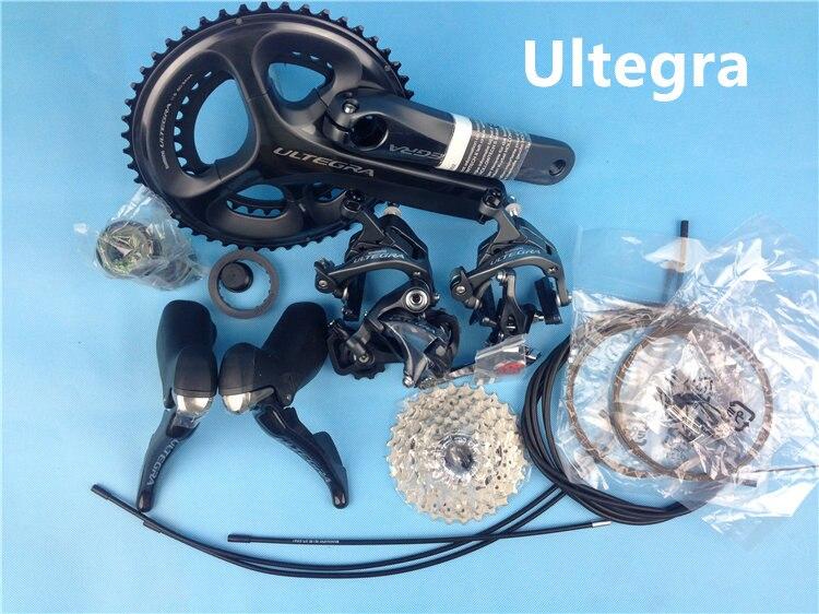 Shimano Ultegra R8000 11 Vitesse Groupset Vélo De Route Groupset 170/172. 5/175mm 50-34 52-36 53-39 Vélo Groupe Ensemble 2*11 vitesse