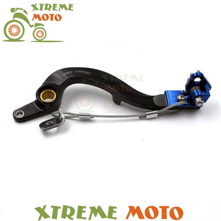 CNC Billet Forged Flexible Blue Rear MX Foot Brake Lever Pedal For Yamaha YZ250F 10-15 Motocross Dirt Pit Bike Off Road Racing 270mm front brake disc rotor for cr 125 250 500 crf 250r 250x 450x 450r 230f motocross supermoto enduro dirt bike off road