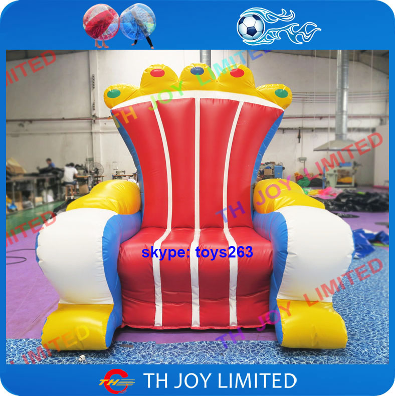 Inflatable Kids Birthday Chair: Free Air Shipping Commercial Rental Inflatable Throne