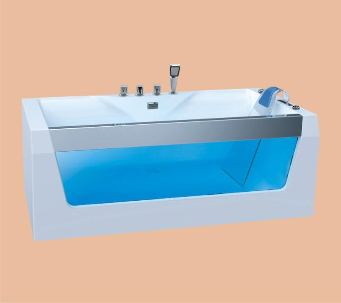 1700mm Fiberglass whirlpool Bathtub Acrylic Hydromassage Surfing Bubble Tub NS3028
