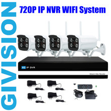 4CH CCTV security Wireless IP Camera nvr System 720p 4 channel Outdoor network recorder Wifi Video Surveillance System Kit hdmi