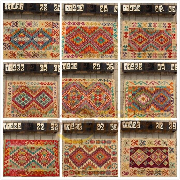 Tapis de laine tissés à la main décoration de la maison tapis géométrique tapis turc vente laine à tricoter tapis Kilim tapis laine