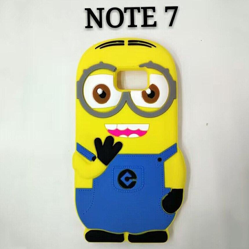 3D мультфильм мягкий силиконовый Миньоны чехол для Samsung Galaxy note7 Симпатичные Гадкий я Миньоны чехол стильная простота желтый