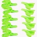 10 шт./лот Пластмассовые Зубы Уход Зеленый Зубы Лотки Здравоохранения Автоклавируемые Капы Набор