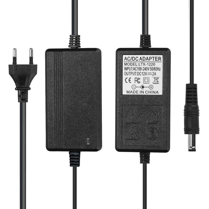 DC 12V 2A Power Adapter Supply 12V 2A AC Power Adapter EU Euro Plug For 5050 LED Rigid Strip Lamp Lighting Security CCTV Camera цена 2017