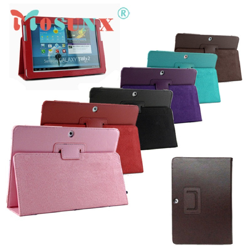 #20 1PC 2016 PU Leather Case Cover Skin Stand For Samsung Galaxy Tab 2 10.1 P5100 P5110 P5113