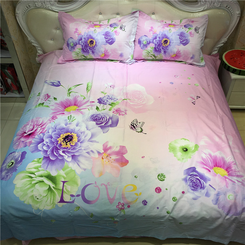 Floral 3D modern queen comforters cotton luxury bedspread pink natural  pillow cover LOVE pattern. Compare Prices on Luxury Bedspreads Comforters  Online Shopping