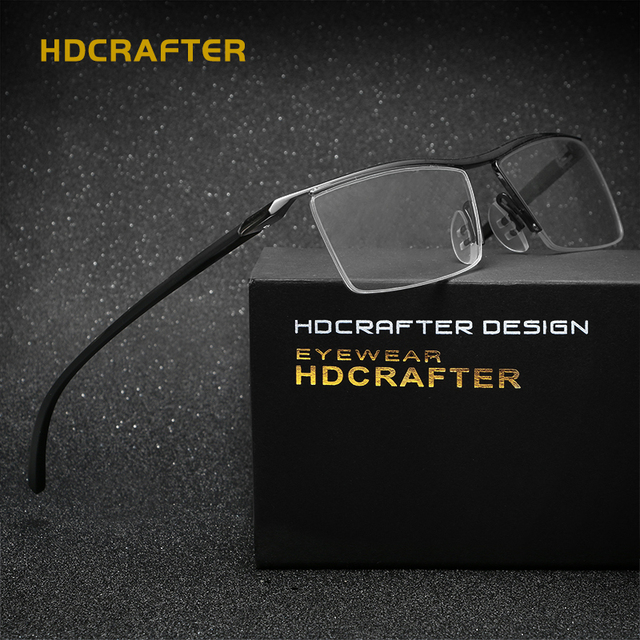 0bc65d8537 HDCRAFTER Hot 2017 Eyewear TR90 Alloy Frames Myopia Glasses Reading  Spectacle Frame Comfortable Slip-resistant Eyeglasses Frames