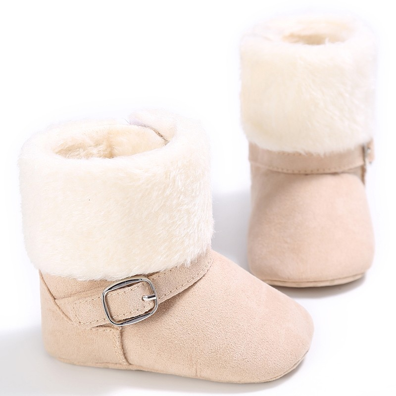 Baby Girls Boys Winter Unisex Snow Kids Warm Fleece Style Boots Anti-skid Cack Shoes