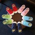 Crianças shoes meninos lona shoes meninas sapata de bebê menina menino tênis crianças sapatos de lona 2017 nova moda tamanho 21-30 para 2 ~ 9 anos vermelho F039