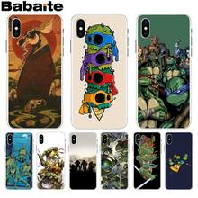 Babaite ninja turtles lovely Phone Accessories Case for iPhone 8 7 6 6S Plus X XS max 10 5 5S SE XR Coque Shell(China)