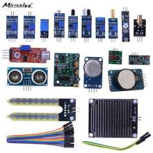 Buy online Miroad 16 in 1 Modules Sensor Kit Project Super Starter Kits for Arduino UNO R3 Mega2560 Mega328 Nano Raspberry Pi 3 2 K62