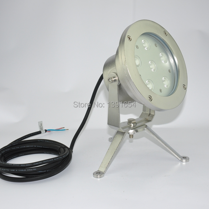 304 stainless steel 18W Underwater Spot Light Single Color Fountain LED light Color Changing Underwater Lamp 4pcs/lot underwater