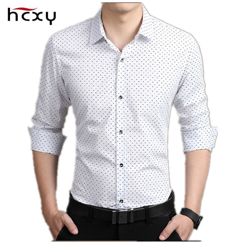 NEUE Männer freizeithemd Mode Dünne Punkthemden Langarmhemd - Herrenbekleidung