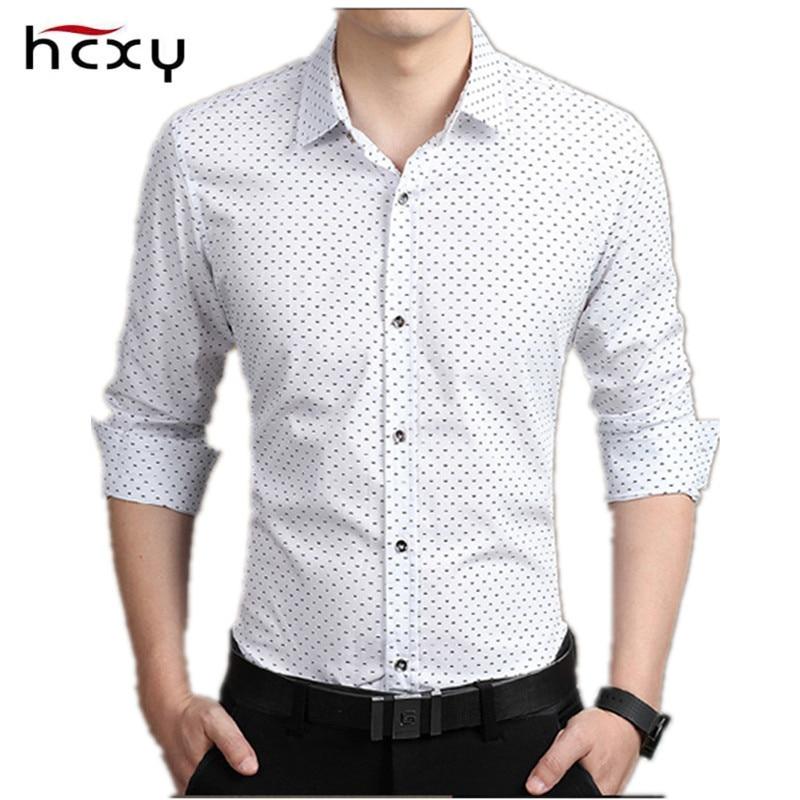 NYE Mænd Casual Shirt Fashion Slim Dot shirts Langærmet skjorte - Herretøj - Foto 1