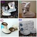 Por menor hechos a mano de punto botines del bebé, mano del bebé del ganchillo botas, zapatos del ganchillo del bebé