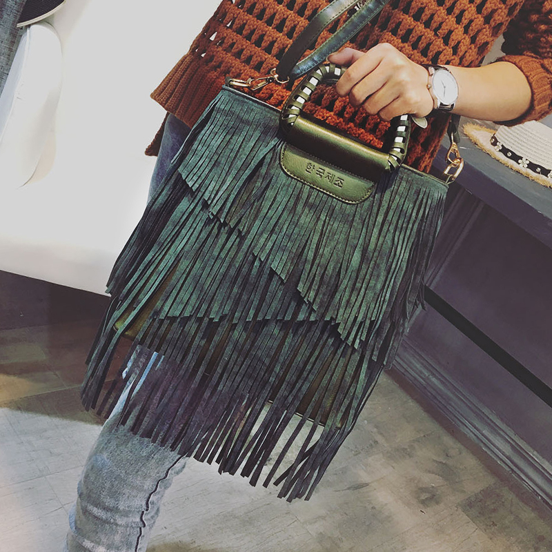 New Luxury Women Bags Designer High Quality Tassel Vintage women's Leather Handbag Shoulder Bag Messenger Bags Crossbody Bags