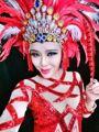 Супер-преувеличены сексуальный красный сценический костюм износ певица Ds танцевальные костюмы комплект одежды боди юбка головной убор танцевальное шоу