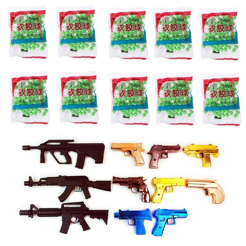 800Pcs/Bag 6mm Hard Plastic Bb Gun Paintball Toy Pistol Sniper Bullets Ball Kids Toy