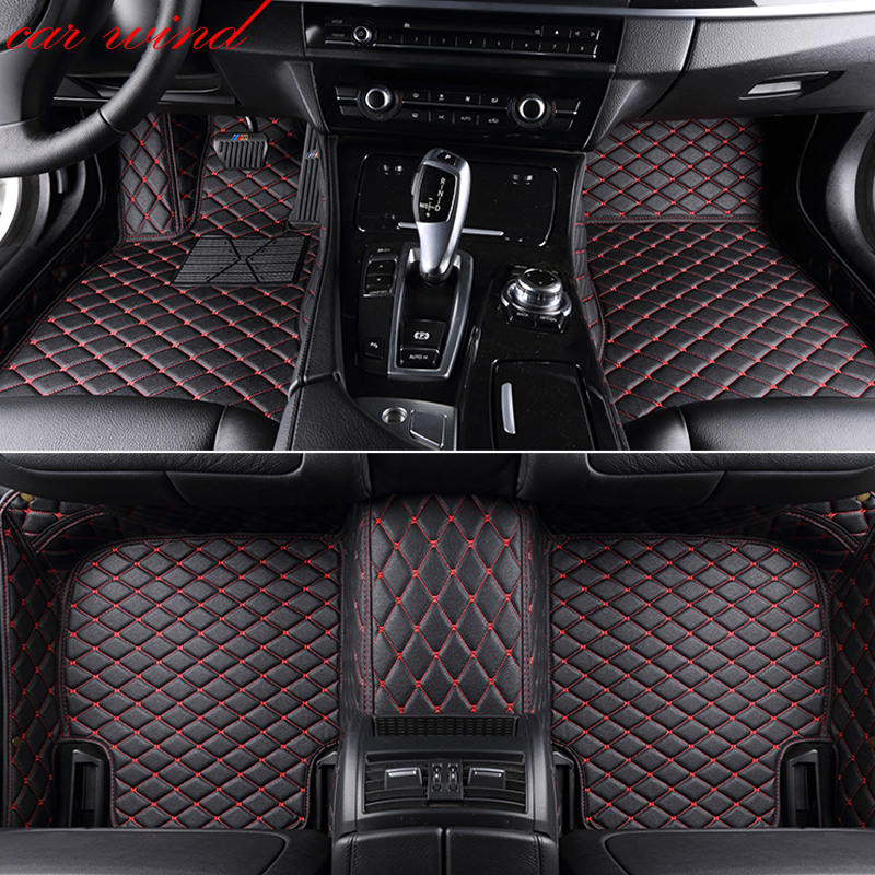Car wind leather car floor mat for chrysler 300c toyota land cruiser prado 150 nissan x trail t31 3D rug Carpets car accessories|Floor Mats| |  - title=