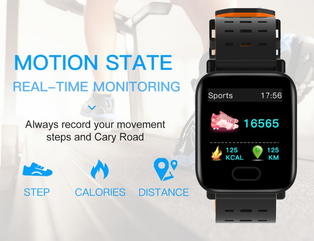 Q6 Smartwatch IP67 Waterproof Wearable Device Bluetooth Pedometer Heart Rate Monitor Color Display Smart Watch For AndroidIOS (5)