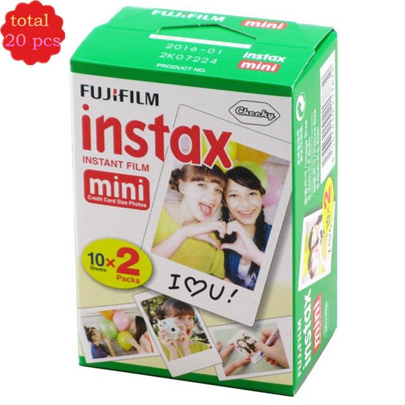 Cheap Original 20pcs box Fujifilm instax mini film 20 sheets white Edge 3 Inch wide film