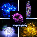 2M 7FT 20 LED 3 AA Battery Powered Decoration LED Copper Wire Fairy String Lights Lamps for Christmas Holiday Wedding Party
