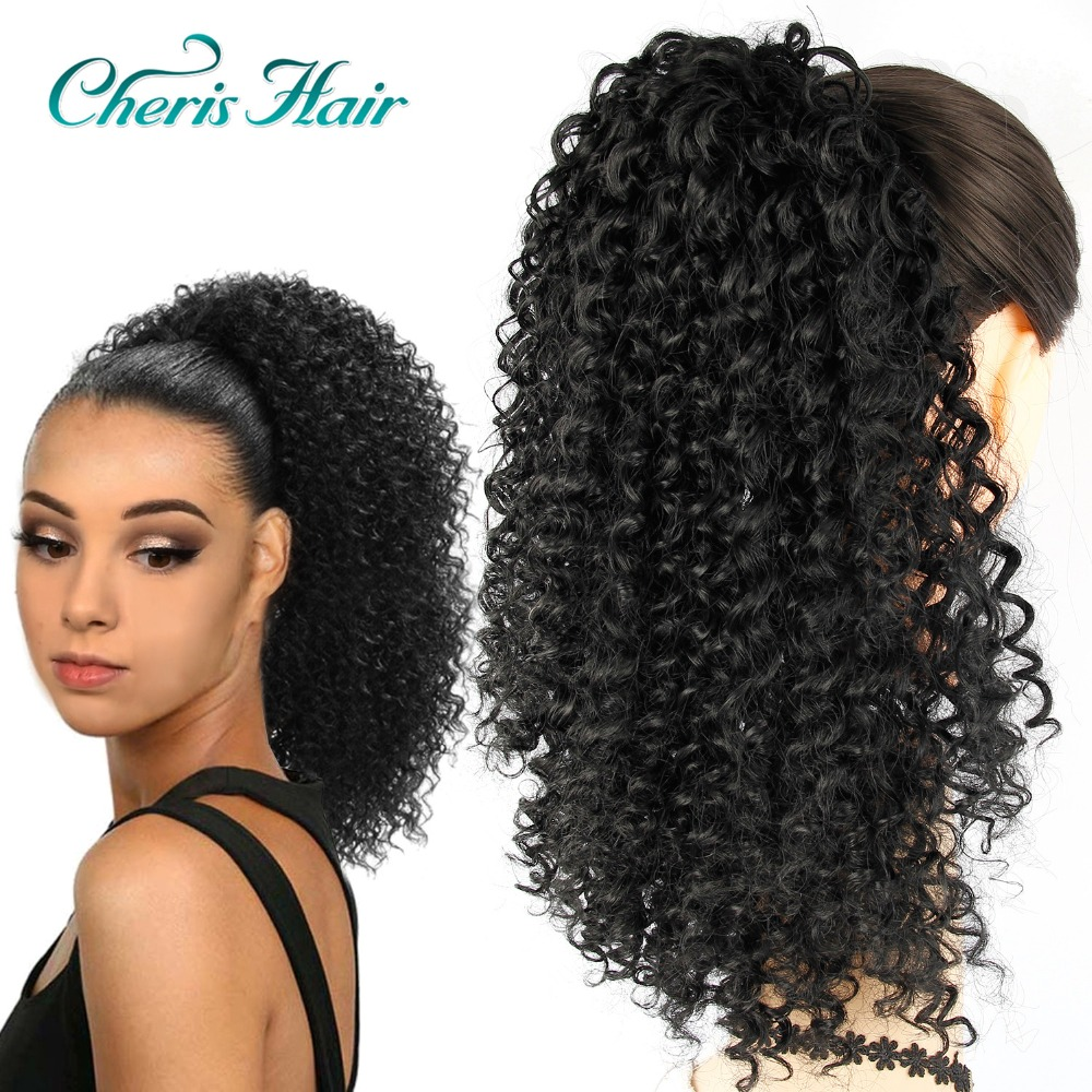 drawstring puff afro kinky curly