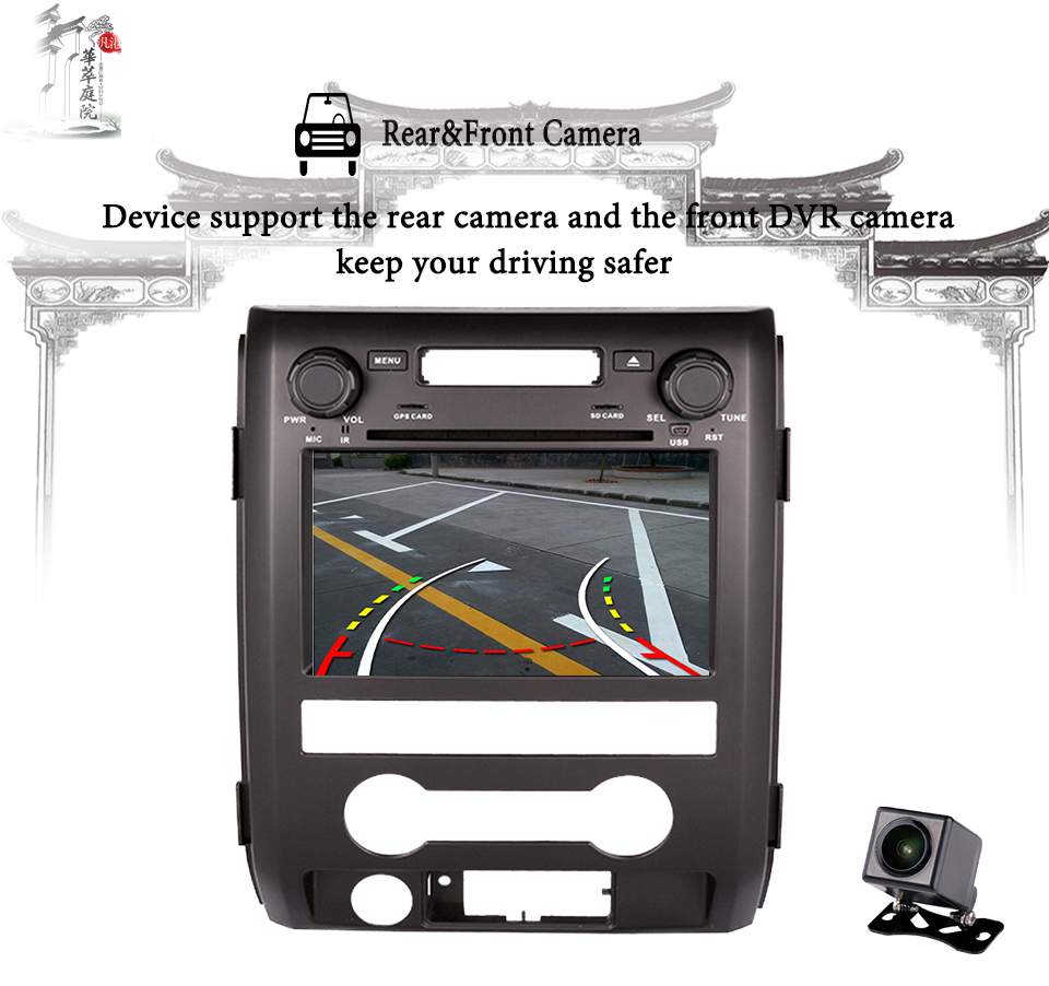 Octa Core Android 9.0 Auto DVD player <font><b>GPS</b></font> Navigation In-dash Stereo Radio <font><b>f</b></font>ür Ford F150 2009 2010 2011 2013 2012 2014 Video Audio image