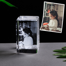 Personalized Photo Frames Customized Picture Crystal Laser Engrave Glass Frame for Baby Wedding