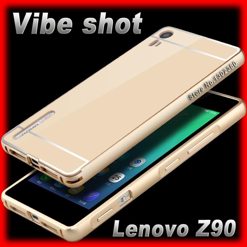 pretty nice 6f026 90c96 US $4.99  Lenovo Z90 vibe shot case Aluminum Metal Frame Acrylic Cover For  Lenovo vibe shot z90 7 z90a40 case Z90-in Phone Bumper from Cellphones & ...