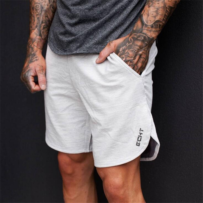 ECHT 2018 Top Quality Men Casual Brand Gyms Fitness Shorts Men Professional Bodybuilding Short Pants