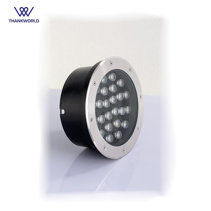 THANKWORLD Underground Light Waterproof Recessed Led Floor Lights 24W Outdoor Led Step Light IP67 Inground Landscape