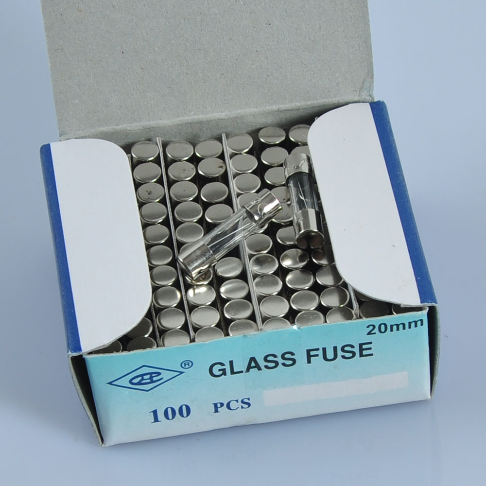 100PC Fuse 1A 5x20mm 5mmx20mm Slow Blow Glass Tube Audio Guitar Amp in Electrical Plug from Consumer Electronics