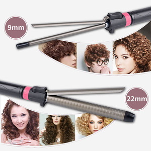Image 5 - 9 32mm Professional Hair Curler Deep Wave Curly Styler Curls Salon LED Titanium Hair Curling Iron Stick Styling Accessory S36