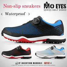 Free Shipping!MO EYES Men's Golf Shoes Sneakers Men's Sports Double Waterproof Shoes Super Soft Comfort High-end Spring Sneakers ttygj golf shoes for girls shoes zapatos de mujer sneakers on a platform golf hombre golf shoes free shipping light