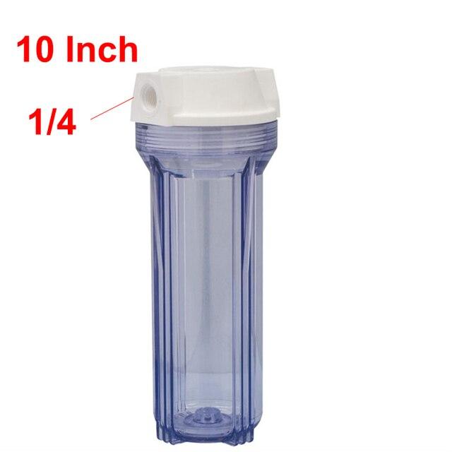 1 قطعة أجزاء تصفية المياه زجاجات ترشيح المياه 10incn عالية 1/4 بوصة موصل ل منقي مياه RO نظام التناضح العكسي آلة